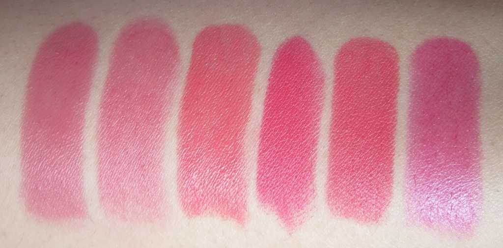 Dior Addict Dior Kiss 578, Dior Addict Extreme Lucky 536, Mac sheen supreme Full Speed, Mac Impassioned, Make up for ever mufe rouge arist intense 37, Giorgio Armani Rouge d'Armani 520 swtach